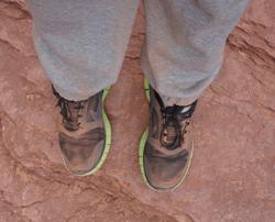 Mijn sportschoenen na een 12 mile hike in de Grand Canyon