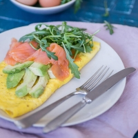 Omelet Gerookte Zalm