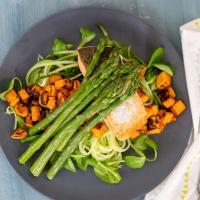 Salade Zalm met Zoete Aardappel
