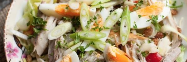 Paleo salade met makreel