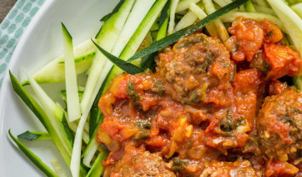courgetti meatballs