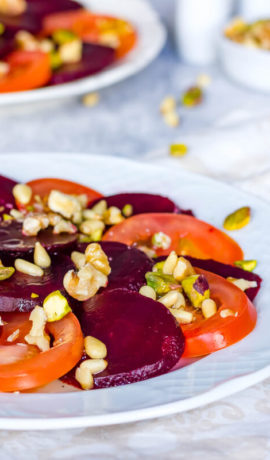 Vegetarisch Paleo recept: bietencarpaccio